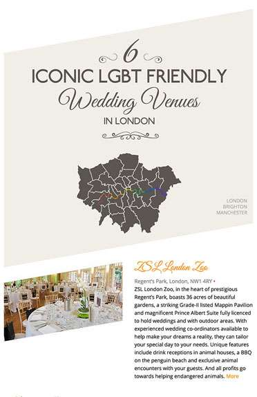 6 Iconic LGBT-Friendly Wedding Venues in London